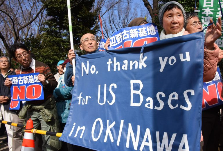 okinawa20protest 1457951983803 955933 ver1.0 768x521 - CIA: How to shape Okinawan public opinion on the U.S. military presence (by Jon Mitchell)